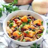 Chicken, Sweet Potato, and Black Bean Stew