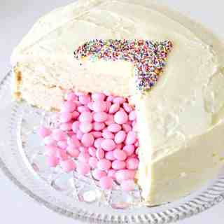 Candy Filled Gender Reveal Cake Tutorial (and a BIG HUGE announcement!)
