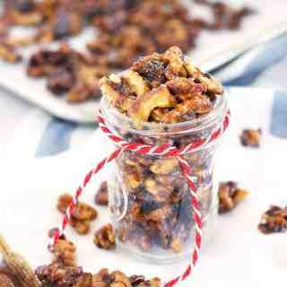 Salted Cinnamon Candied Walnuts