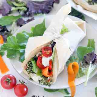 The Ultimate Vegetarian Pita Sandwich