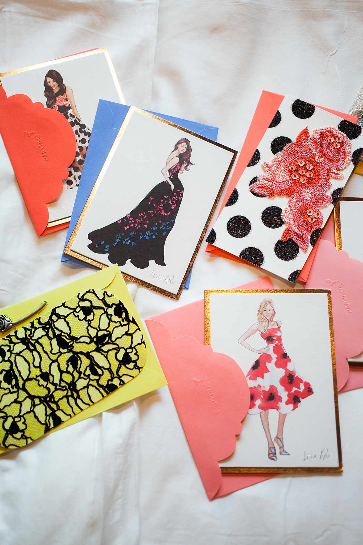 Lela Rose For Papyrus NYFW Greeting Cards Bows Amp Sequins