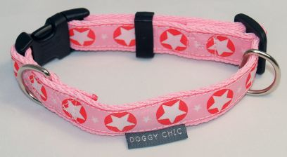 DCHIC-Pink-Star-Dog-Collar for your dog