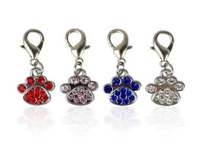 bling collar charms