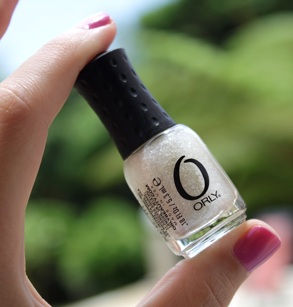 orly swatch winter wonderland glitter white nail polish