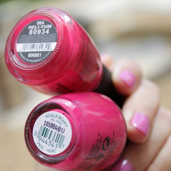 opi koala bear heli-yum polish nail art swatch china glaze