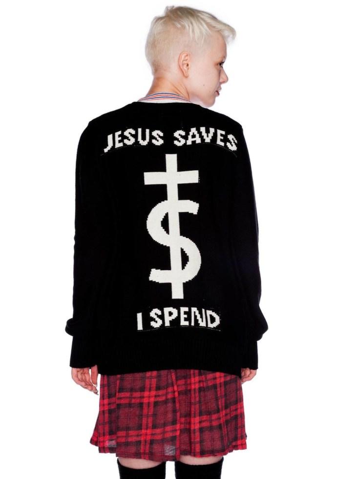 pull jesus saves I spend