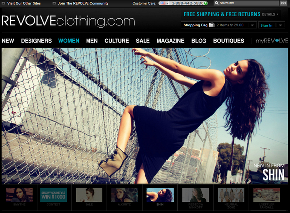 revolve clothing site