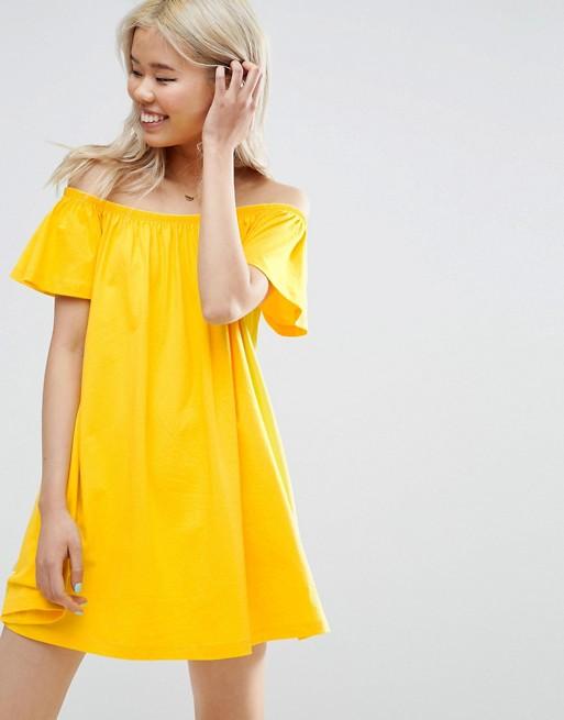 robe jaune epaules