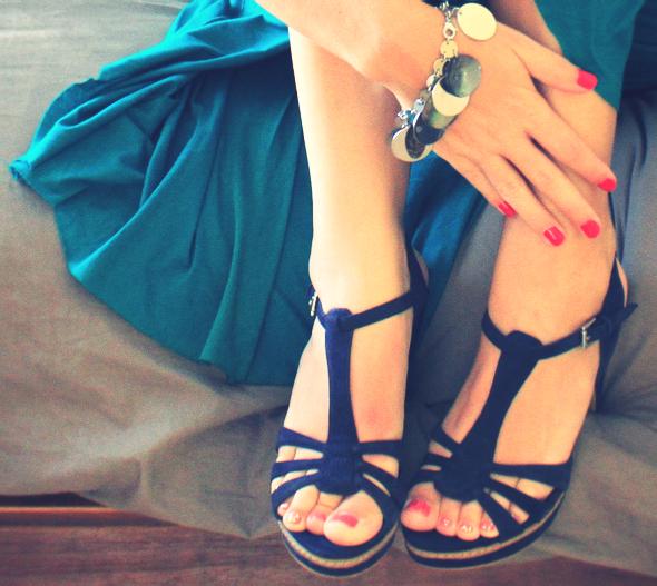 escarpins zara bleu