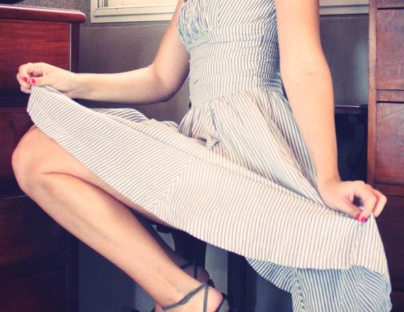 robe bleu blanche topshop