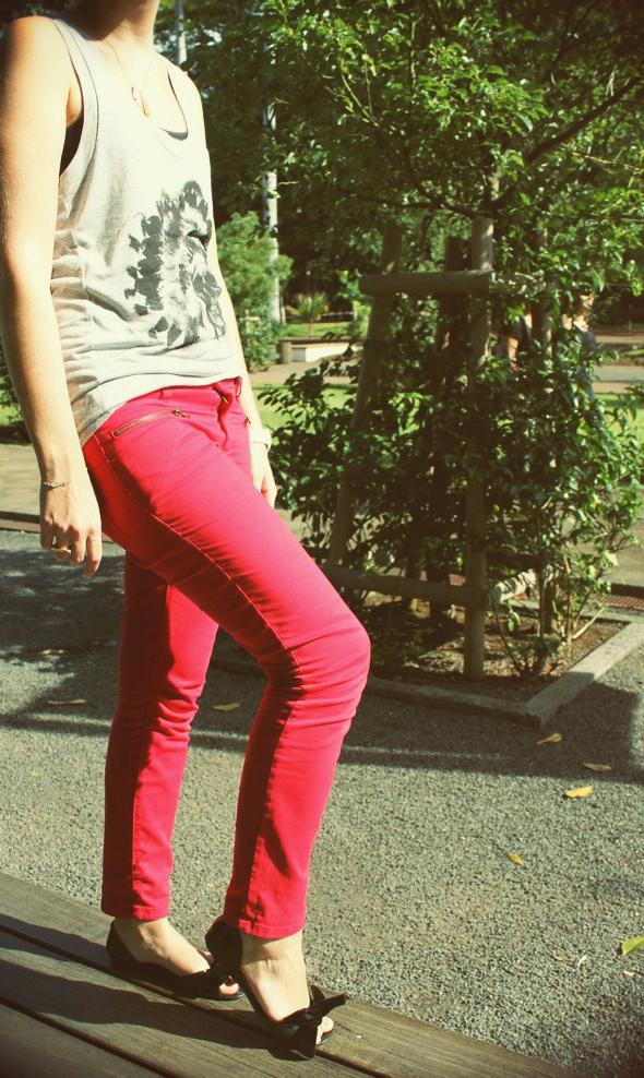 bel air rosa rouge skinny la petite française marcel