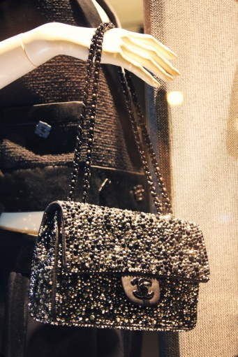 Sac Chanel classique paillettes