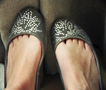 ballerines kaki zara