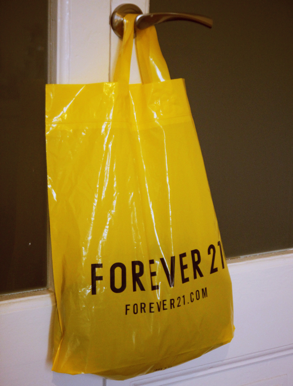 sachet jaune forever21