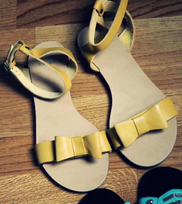 topshop sandales jaunes