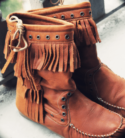 bottines franges zara camel