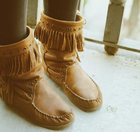 bottes zara franges