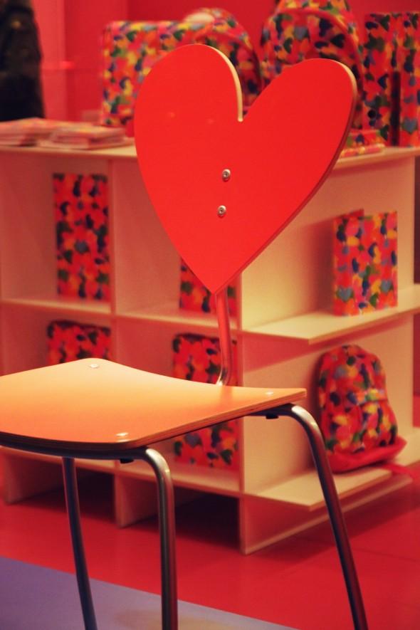chaise coeur