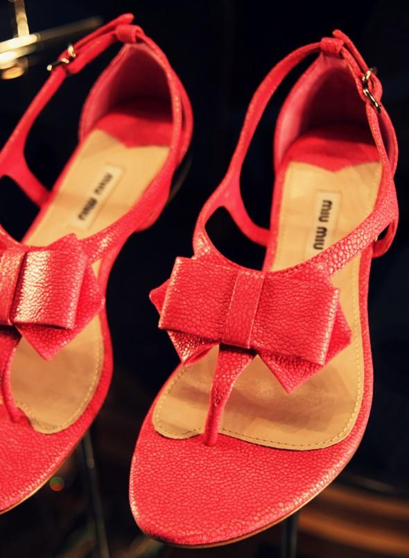 sandales noeud rose miu miu luxe
