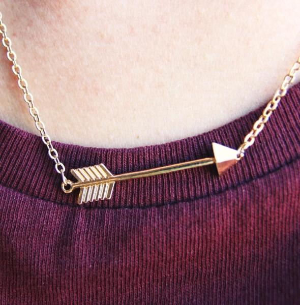 arrow necklace collier fleche_effected