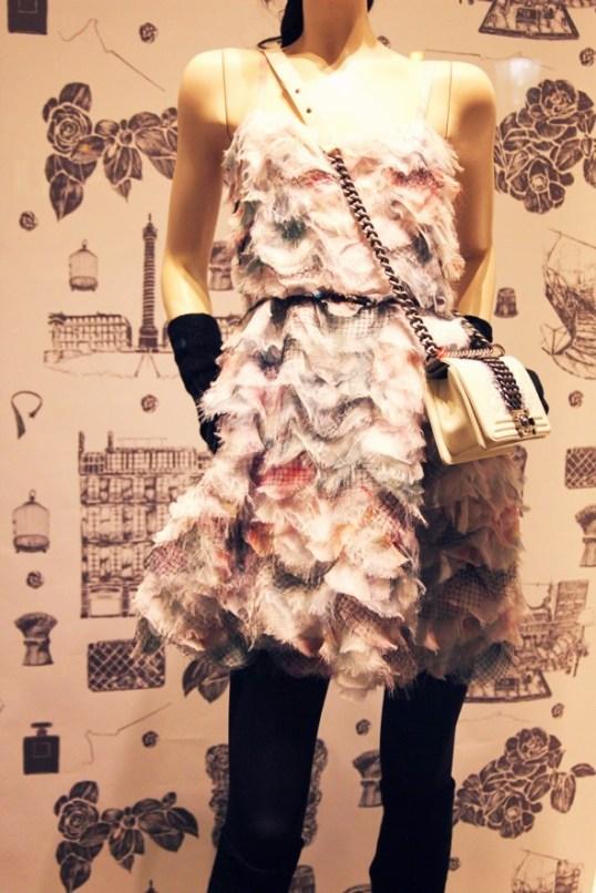 chanel 2013 chiffon dress