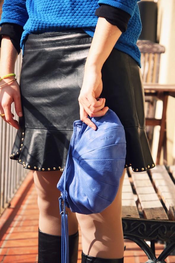 jupe en cuir zara falda skirt leather piel zara 2012 sac bag nat & nin betty cos pull sweat boots babooska gucci_effected