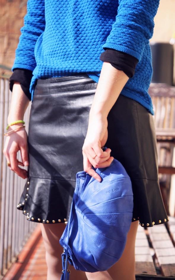 jupe en cuir Zara leather skirt piel zara 2012 sac bag nat & nin betty cos pull sweat boots babooska gucci_effected