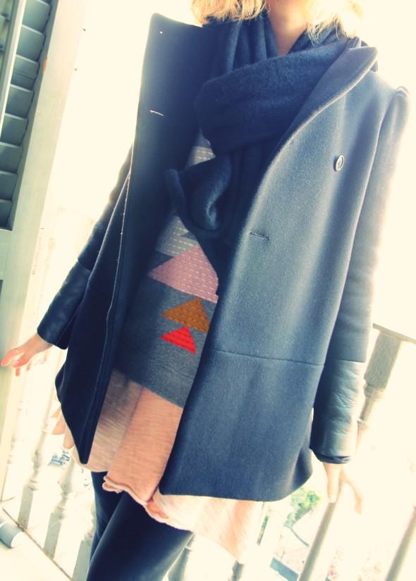 maje manteau riquette hiver cuir _effected