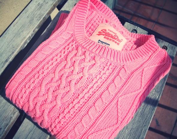 pull knitwear marilyn darel superdry pink neon fluo rose_effected