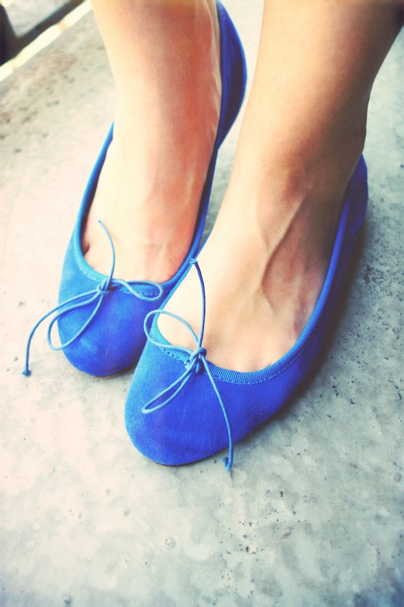 anniel ballerines ballerinas blue bleu klein electric_effected