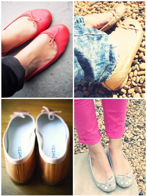 repetto shoes ballerines cendrillon bb plumetis or rose argent gris noir-