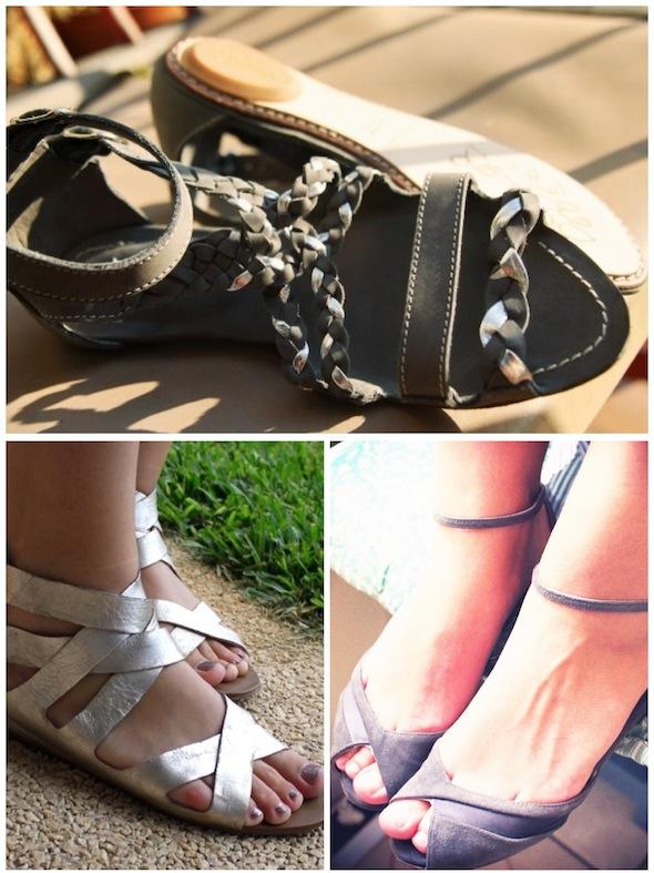 sandales sandals maloles isabella dolce vita les prairies de paris argent silver grey gris