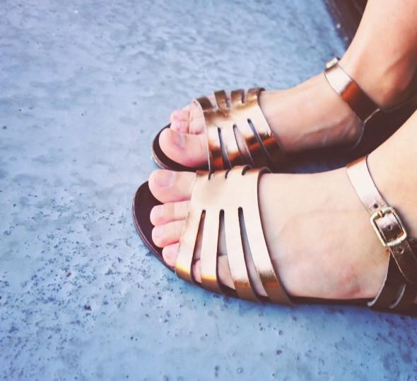 asos sandales bronze cuivre cuir leather sandals_effected