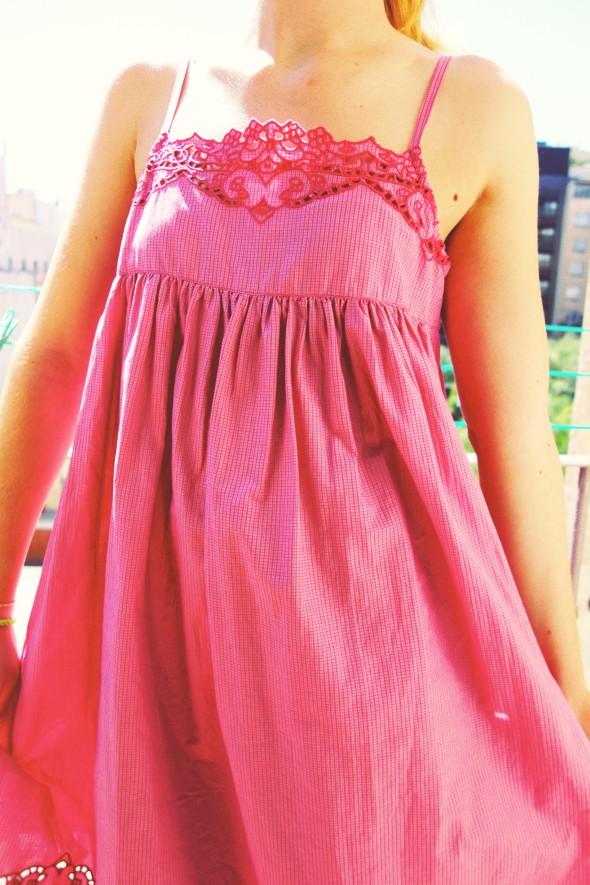 robe vichy rose
