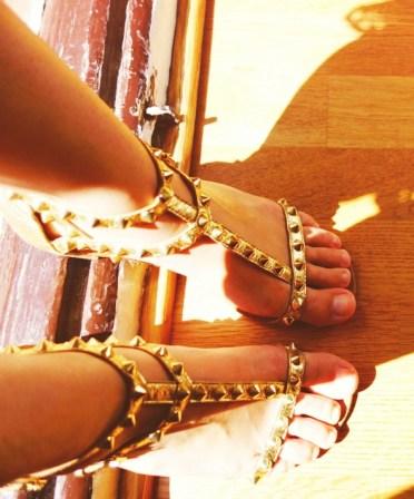 sandales dorees ash