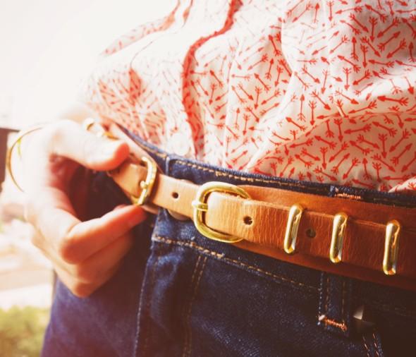 ceinture camel cuir massimo dutti