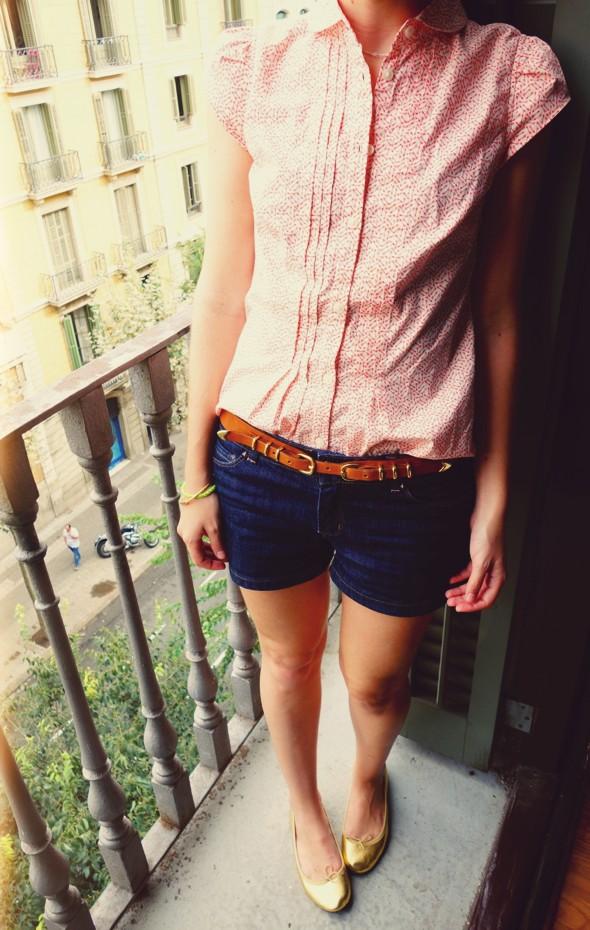__Levis blouse arrows massimo dutti duti belt ceinture cinturon short jean denim shorts naf naf repetto or doré cendrillon bb ballerines_effected