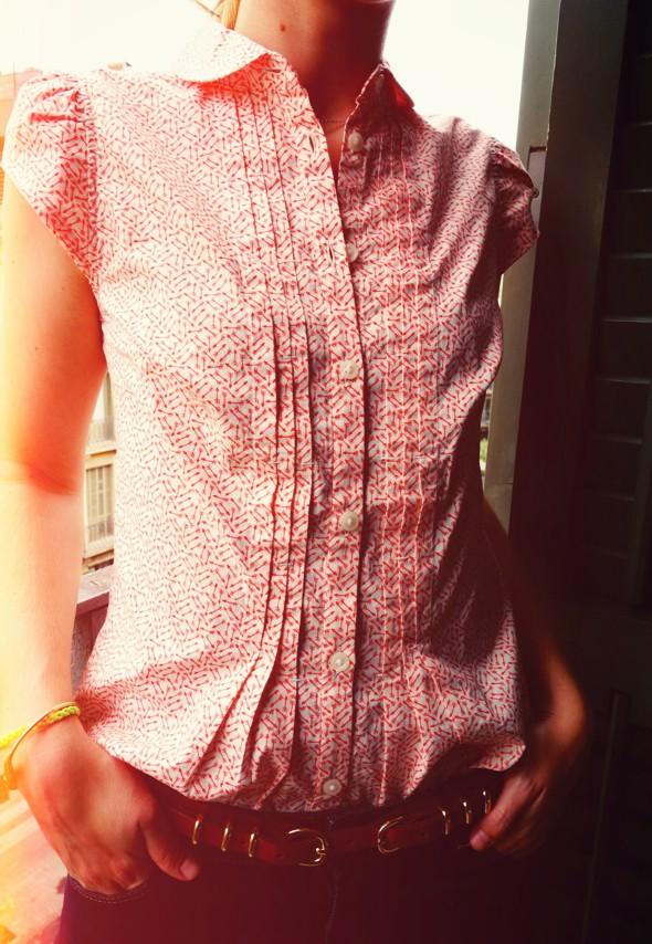 _blusa Levis blouse arrows massimo dutti duti belt ceinture cinturon short jean denim shorts naf naf repetto or doré cendrillon bb ballerines_effected