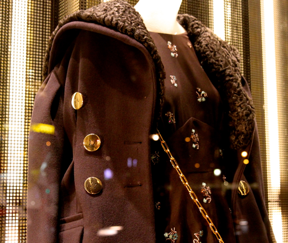 miu miu coat manteau abrigo noir black negro 2013 2014 fashion luxe luxury winter autumn