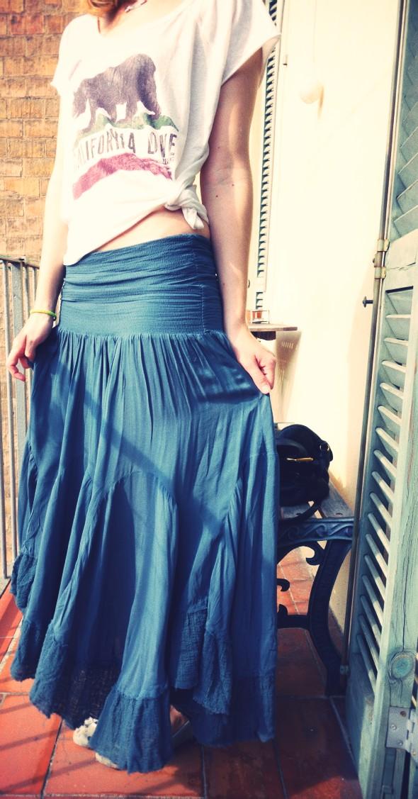 _-outfit free people skirt convertible viscose maxi billabong california love shirt cropped_effected