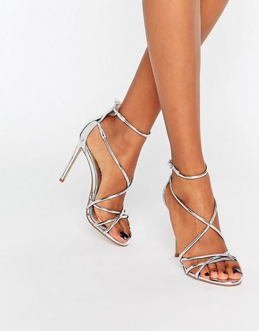 sandales argentees