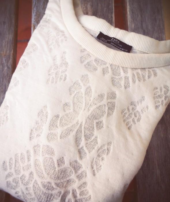 pull zara blanc