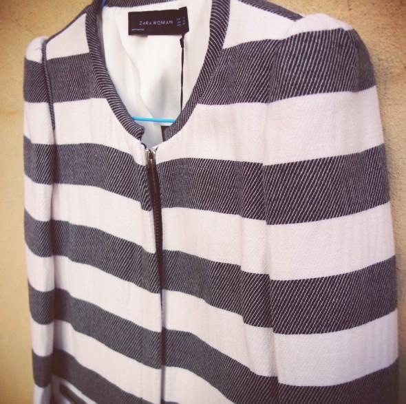 veste vest chaqueta zara women woman stripes rayures rayas 2013_effected