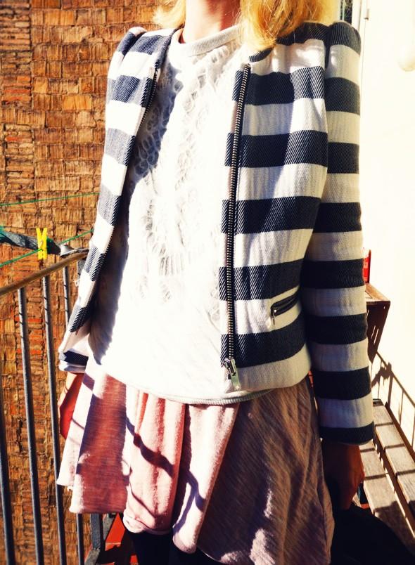 -veste jacket zara stripes grey black free people pink rose dress robe vintage boots bottines jumper sweater 2013_effected