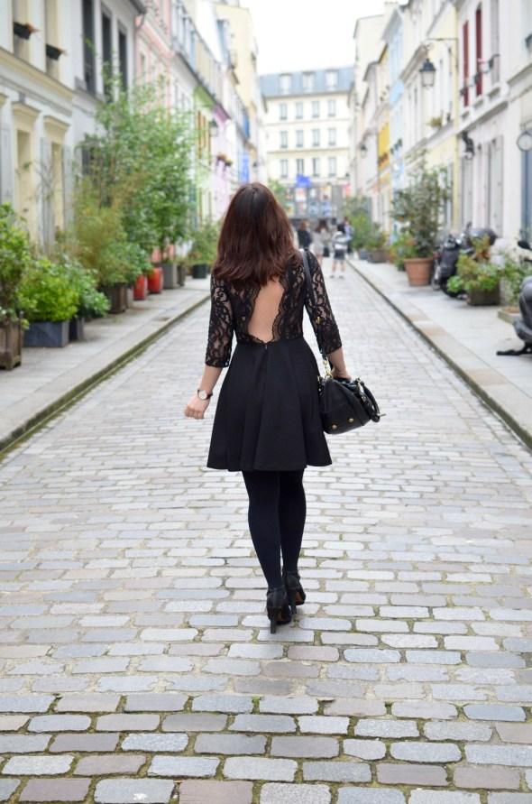 Cremieux Petite robe noire dos ouh la la