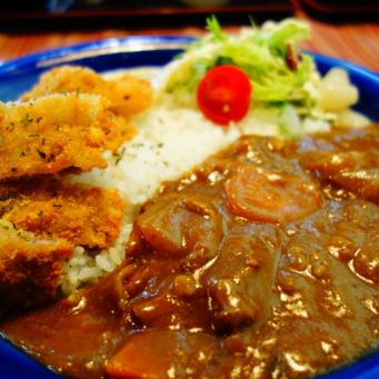 Hokkaido_curry_chicken_dish_restaurand_food_rice_sauce_vegetables