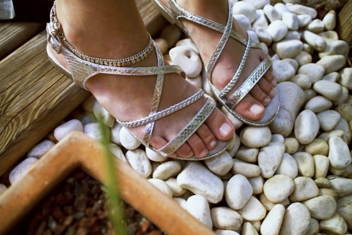 sandales argentees tamaris