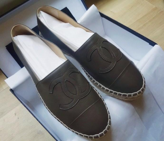 Espadrilles shoes Chanel khaki Chanel espadrilles