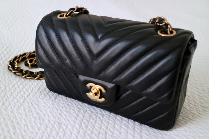 Chanel chevron quilted leather