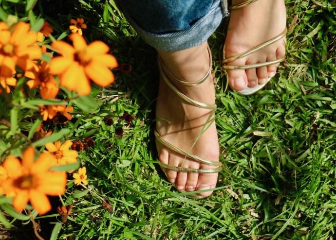sandales dorees 2017